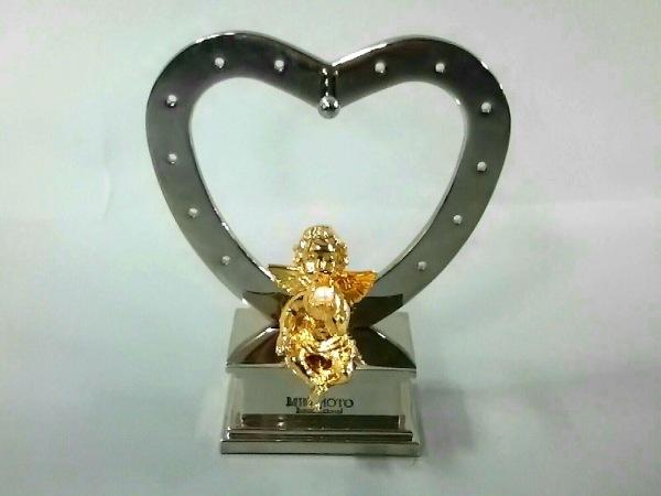 ミキモト 小物美品  ゴールド×アイボリー ジュエリースタンド 金属素材×パール