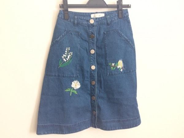 Chesty(チェスティ) スカート サイズ0 XS レディース ブルー デニム/刺繍