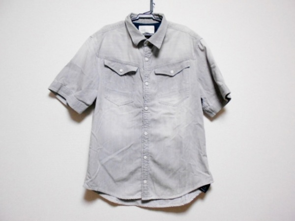 G-STAR RAW(ジースターロゥ) 半袖シャツ サイズL メンズ グレー