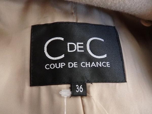 クードシャンス コート サイズ36 S レディース美品  ベージュ 冬物