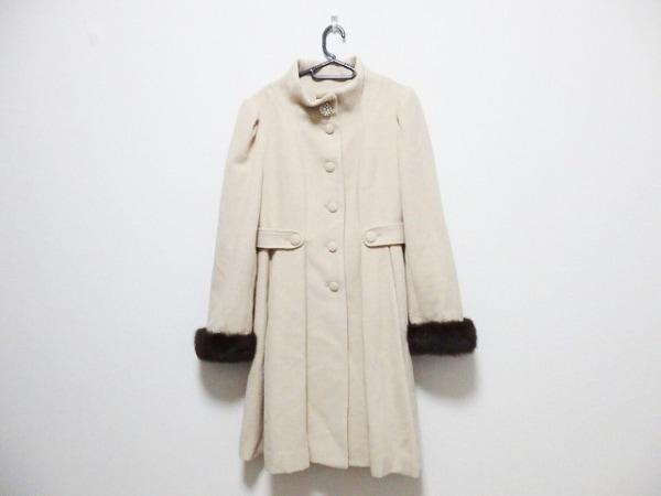 Swingle(スウィングル) コート サイズ2 M レディース ベージュ ビジュー/冬物