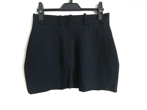 ANN DEMEULEMEESTER(アンドゥムルメステール) ミニスカート サイズ38 M レディース 黒