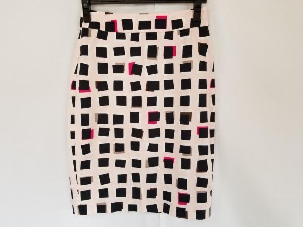 ケイトスペード ロングスカート サイズ2 S レディース美品  ピンク×黒×マルチ