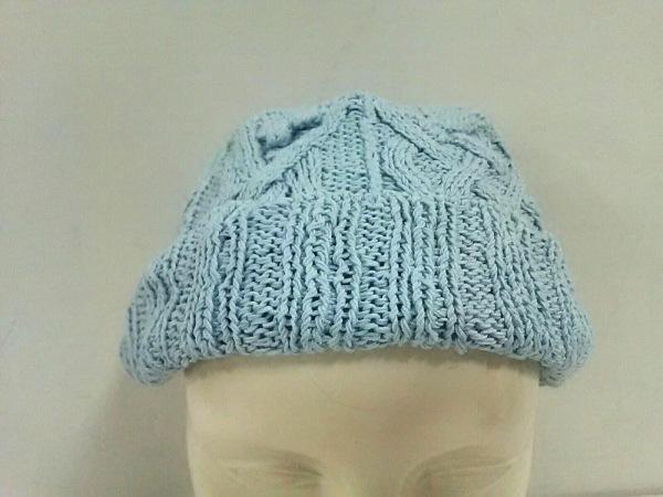TSUMORI CHISATO(ツモリチサト) ニット帽美品  ライトブルー コットン