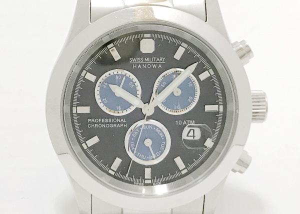 スイスミリタリー 腕時計 HANOWA 6-5115 メンズ クロノグラフ ネイビー