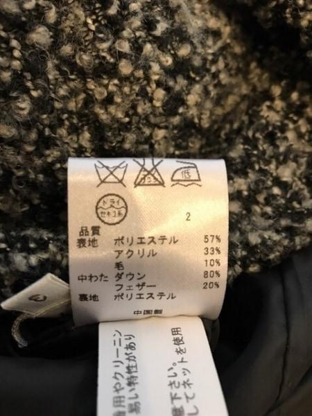 anyFAM(エニィファム) ダウンコート サイズ3 L レディース 黒×アイボリー 冬物