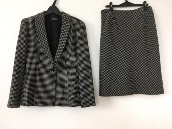 MADAM JOCONDE(マダムジョコンダ) スカートスーツ レディース 黒×グレー 肩パッド