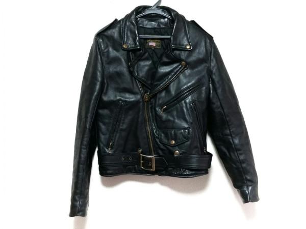 VANSON(バンソン) ライダースジャケット サイズ38 M メンズ 黒 冬物