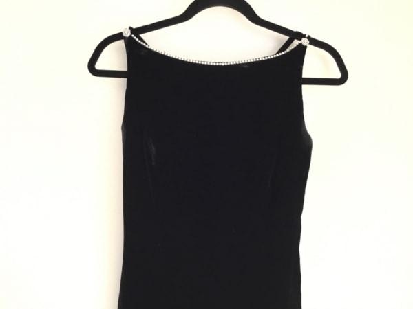 ジュネビビアン ドレス サイズ9 M レディース 黒×クリア ビジュー/ベロア