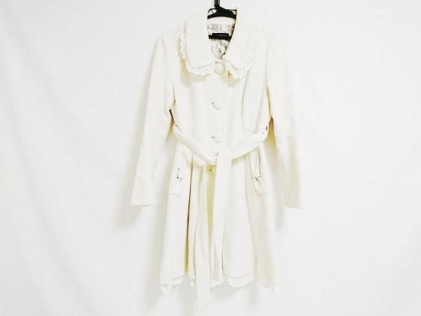 L'EST ROSE(レストローズ) コート サイズ2 M レディース 白 リボン/冬物