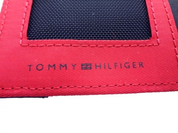 TOMMY HILFIGER(トミーヒルフィガー) カードケース美品  黒 ナイロン×レザー