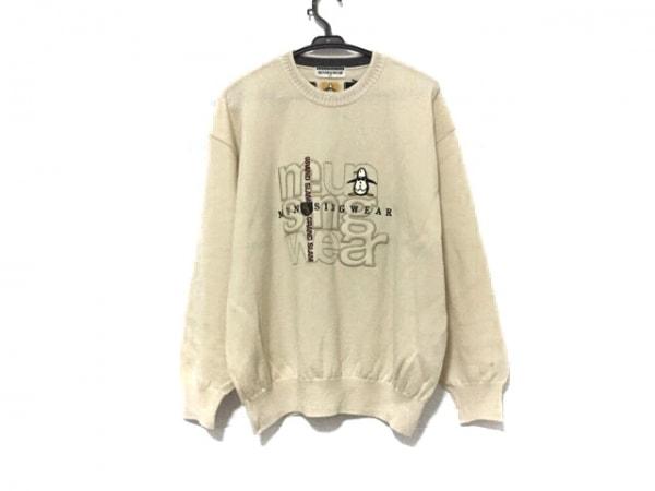 Munsingwear(マンシングウェア) 長袖セーター サイズLA メンズ美品  アイボリー