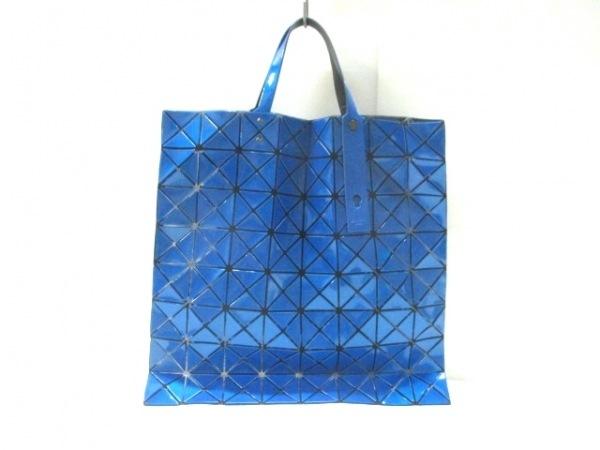 バオバオイッセイミヤケ トートバッグ美品  ブルー PVC(塩化ビニール)