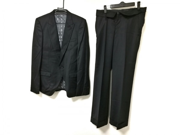 JUN MEN(ジュンメン) シングルスーツ メンズ 黒 肩パッド/JLINE