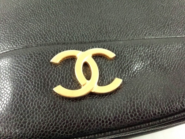 シャネル ショルダーバッグ トリプルココ 黒 チェーンショルダー/ゴールド金具