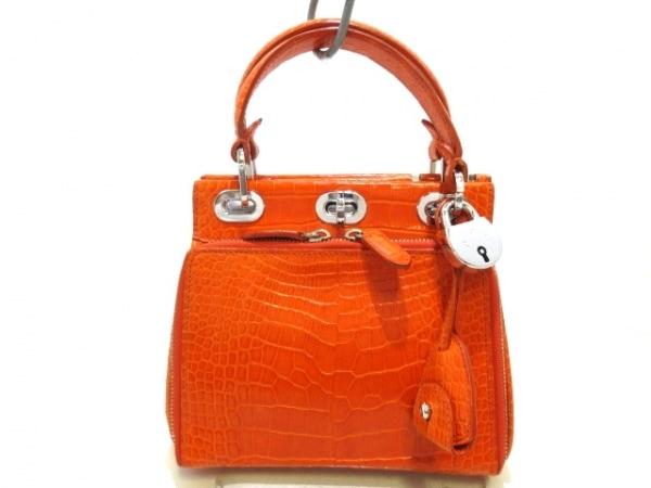 RalphLauren(ラルフローレン) ハンドバッグ美品  オレンジ クロコダイル