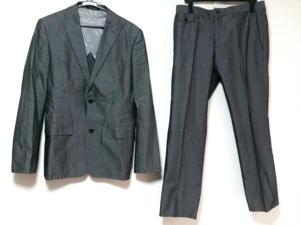 Platinum COMME CA(プラチナコムサ) シングルスーツ サイズLL メンズ グレー
