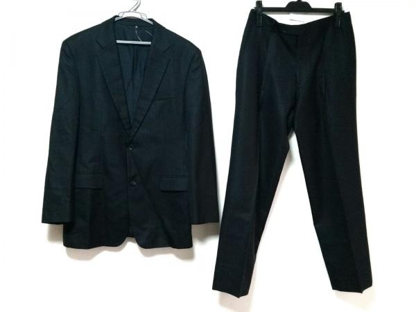 コムサコレクション シングルスーツ サイズL メンズ 黒 ストライプ