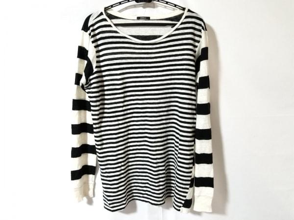 DENHAM(デンハム) 長袖セーター サイズ15 L レディース アイボリー×黒 ボーダー