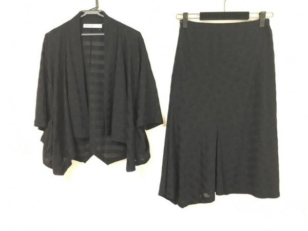 KEIKO KISHI(ケイコキシ) スカートセットアップ レディース美品  黒×ダークネイビー
