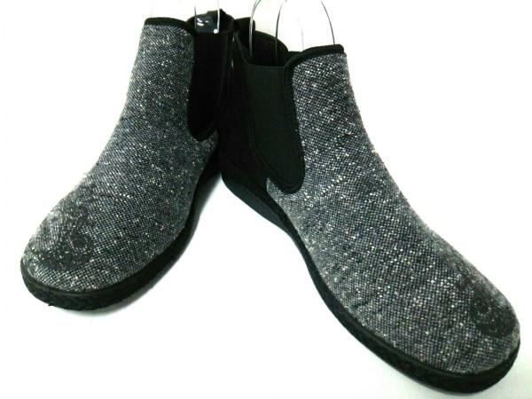 OROBIANCO(オロビアンコ) ショートブーツ 43 メンズ ダークグレー×黒 サイドゴア