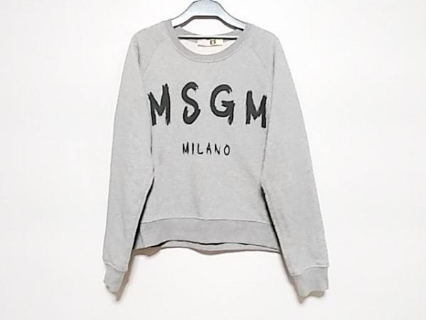 MSGM(エムエスジィエム) トレーナー サイズM レディース ライトグレー×黒