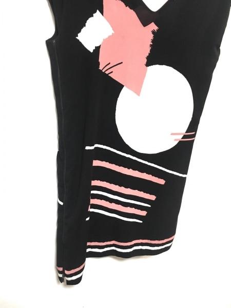 シネカノン ワンピース サイズ38 M レディース美品  黒×アイボリー×ピンク