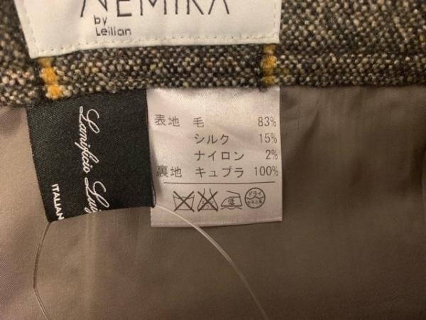 レリアン スカート サイズ9 M レディース 黒×アイボリー×イエロー チェック柄
