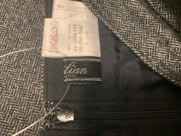 Leilian(レリアン) スカート サイズ9 M レディース 黒×ライトグレー