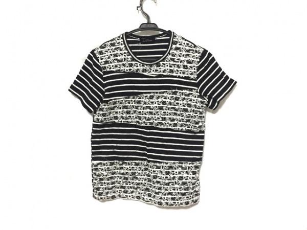 トリココムデギャルソン 半袖カットソー レディース美品  黒×白