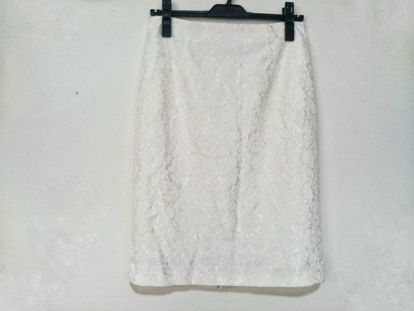 Pinky&Dianne(ピンキー&ダイアン) スカート サイズ40 M レディース美品  白 レース