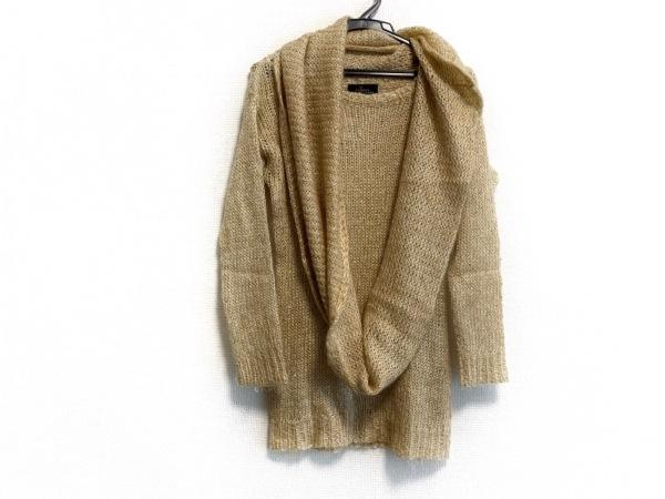 レキップ ヨシエイナバ 長袖セーター サイズ38 M レディース ベージュ スパンコール