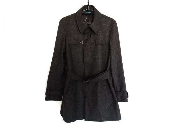 PaulSmith(ポールスミス) コート サイズS メンズ 黒×グレー 千鳥格子/冬物/PS