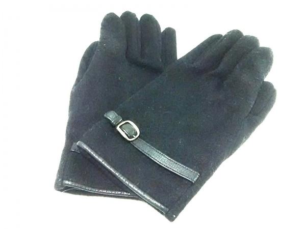 23区 HOMME(ニジュウサンク オム) 手袋 レディース美品  黒 化学繊維×合皮