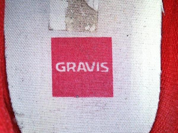 gravis(グラヴィス) シューズ メンズ レッド スエード