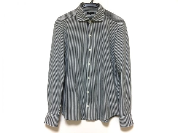 JOSEPH HOMME(ジョセフオム) 長袖シャツ サイズ48 XL メンズ美品  白×黒 ストライプ