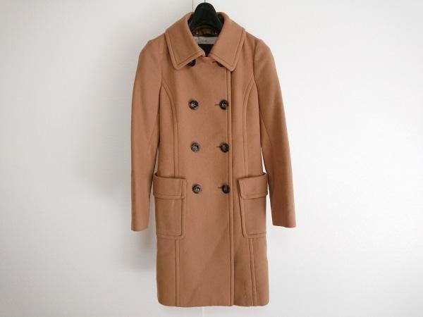 クローラ コート サイズ38 M レディース美品  ライトブラウン 冬物/襟取り外し可