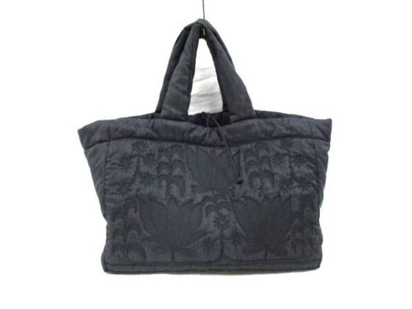 TAMASHA(タマシャ) ハンドバッグ 黒 刺繍 ナイロン