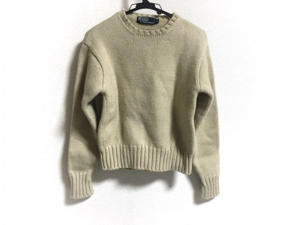 ポロラルフローレン 長袖セーター サイズM レディース美品  アイボリー