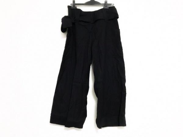 ギャレゴデスポート パンツ サイズM レディース 黒×ダークブラウン ストライプ