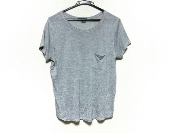 VINCE(ヴィンス) 半袖Tシャツ サイズL レディース美品  ライトグレー