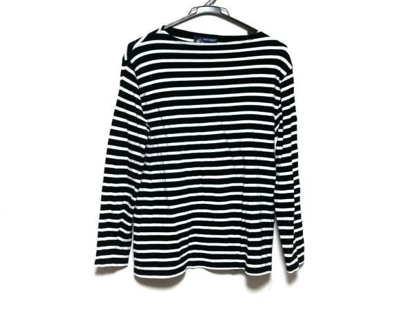 セントジェームス 長袖Tシャツ サイズM レディース美品  黒×白 ボーダー