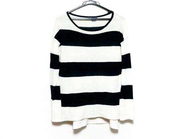 VINCE(ヴィンス) 長袖セーター サイズS レディース美品  黒×アイボリー ボーダー