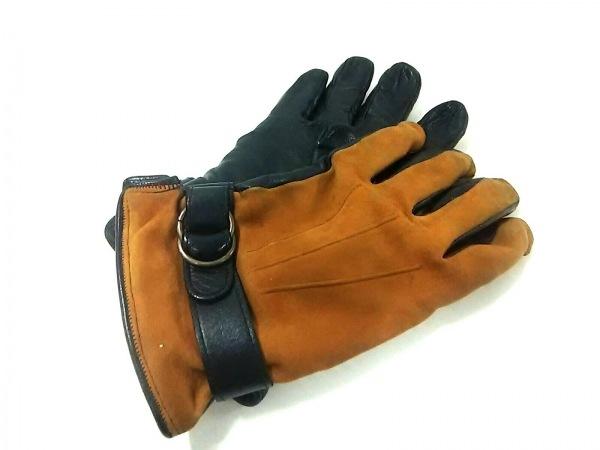 MADOVA(マドヴァ) 手袋 7 1/2 メンズ 黒×ブラウン レザー×ヌバック