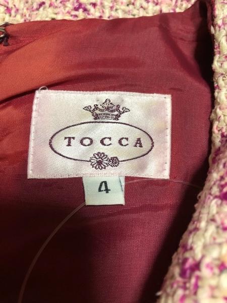 TOCCA(トッカ) ワンピース サイズ4 S レディース アイボリー×パープル
