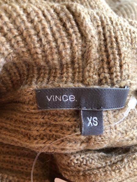 VINCE(ヴィンス) 長袖セーター サイズXS レディース ベージュ タートルネック