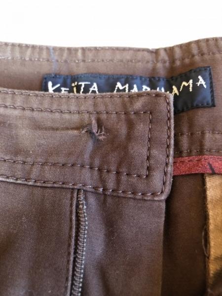 KEITA MARUYAMA(ケイタマルヤマ) ハーフパンツ サイズ1 S レディース ダークブラウン