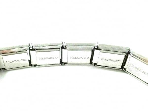 ナラカミーチェメッサジオ ブレスレット 金属素材×ラインストーン フラワー