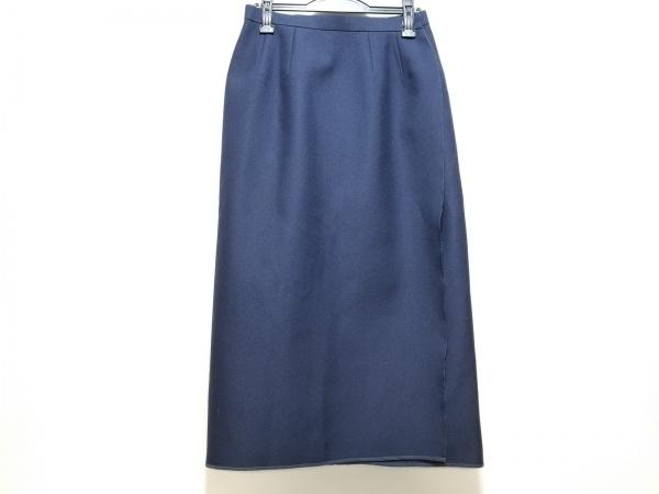 コムデギャルソン 巻きスカート サイズM レディース美品  ネイビー ロング丈/AD1998