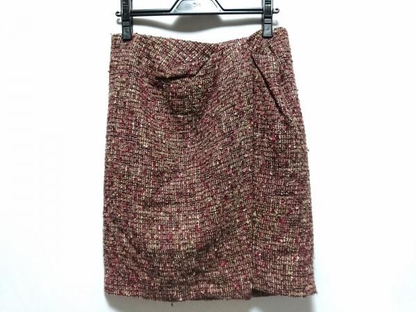 【中古】 トゥモローランド スカート サイズ38 M レディース ボルドー ブラウン マルチ ツイード